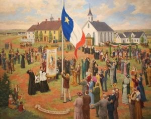 04_24_drapeauacadien_FullRes-300x238 -  - The giant Acadian flag at Saint-Louis-de-Kent and the Acadian giant who designed it