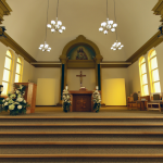 A 360° panorama of St. Vital Church