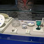 Artifacts displayed at the site