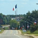 Acadian flag at Saint-Louis-de-Kent